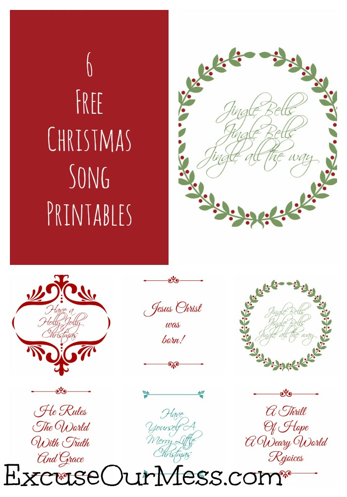 Classic Quotes Wednesday: Christmas Song Printables