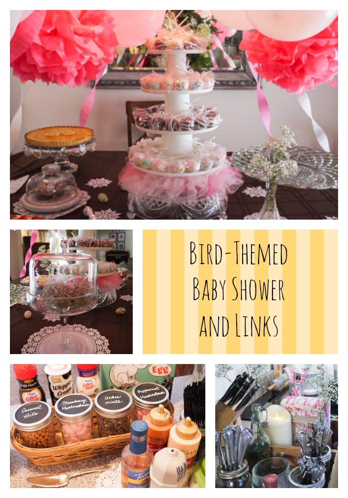 few weeks ago i hosted a bird themed baby shower i came across so